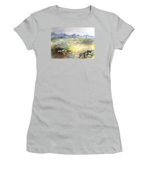Field Of Daisies Women's T-Shirt (Junior Cut) by Marilyn Zalatan