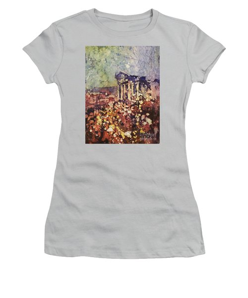 Fields Of Flower- And Roman Temple Women's T-Shirt (Athletic Fit)