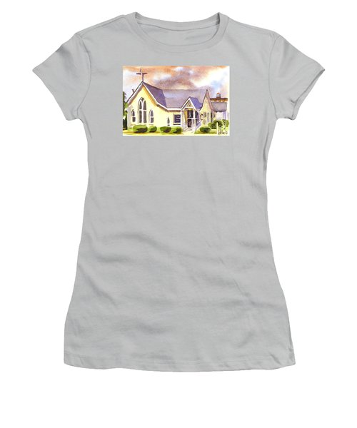 First Presbyterian Church Ironton Missouri Women's T-Shirt (Junior Cut) by Kip DeVore
