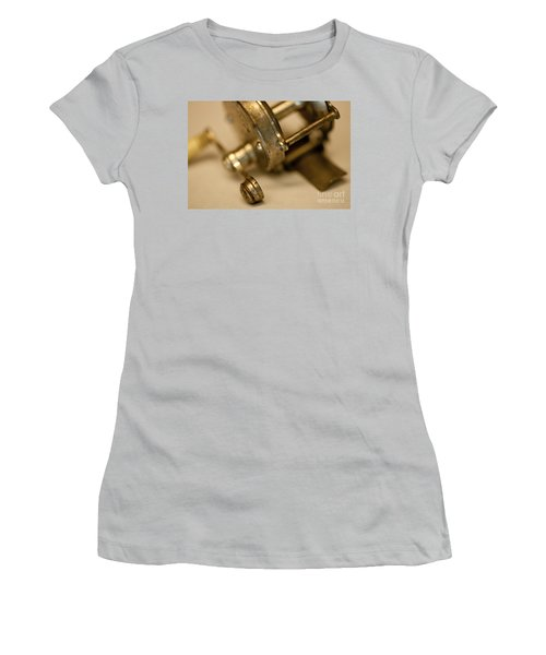Women's T-Shirt (Junior Cut) featuring the photograph Fishing Reel  by Wilma  Birdwell