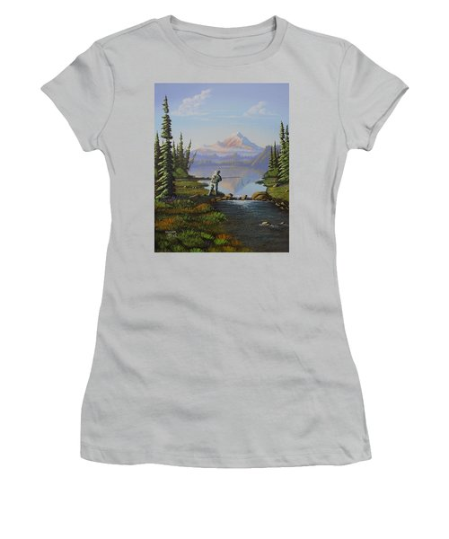 Fishing The High Lakes Women's T-Shirt (Athletic Fit)