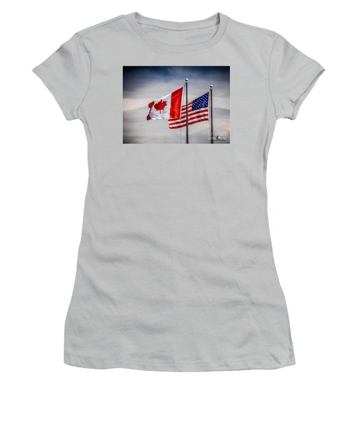 Flag Duo Women's T-Shirt (Athletic Fit)