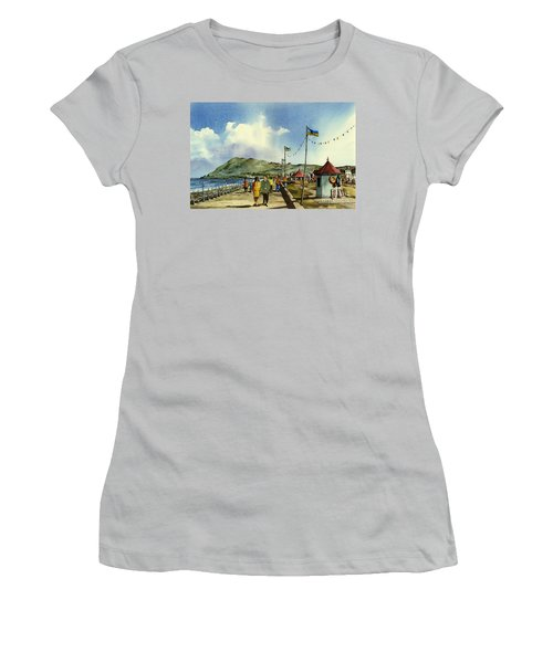 As I Walk Along The Promenade With An Independant Air  ....... Women's T-Shirt (Athletic Fit)
