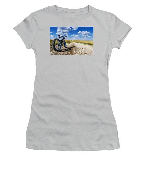 Flint Hills Fall Fatbike Ride Women's T-Shirt (Athletic Fit)