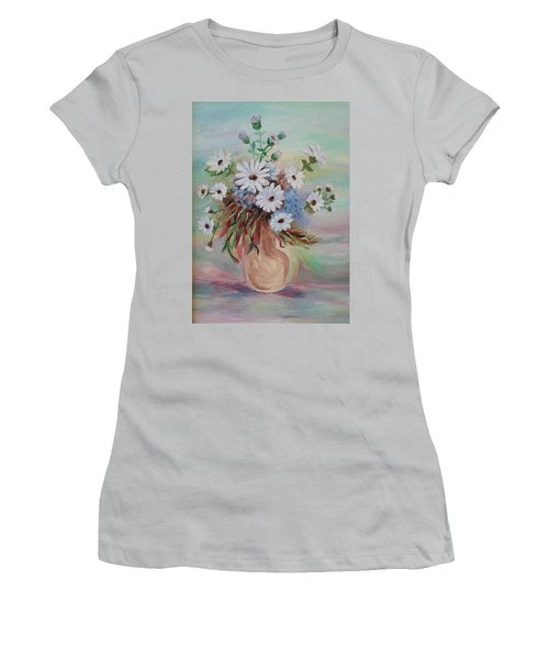 Flowers For Mom Women's T-Shirt (Junior Cut) by Christy Saunders Church