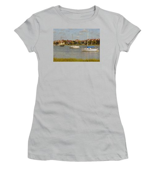 Folly Beach Boats Women's T-Shirt (Athletic Fit)
