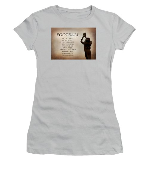 Football Women's T-Shirt (Junior Cut) by Lori Deiter