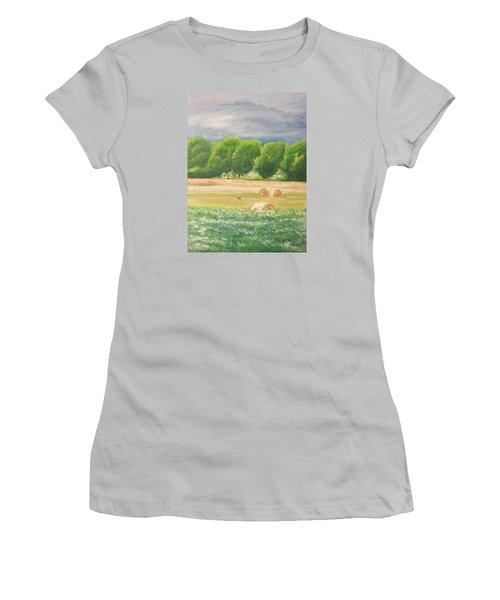 Women's T-Shirt (Junior Cut) featuring the painting Freedom by Jane  See