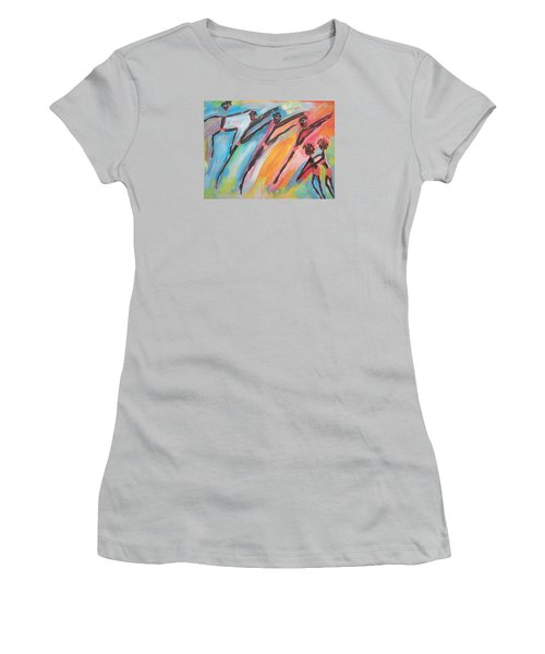 Freedom Joyful Ballet Women's T-Shirt (Junior Cut) by Judith Desrosiers