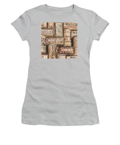 French Corks Women's T-Shirt (Junior Cut) by Debbie DeWitt