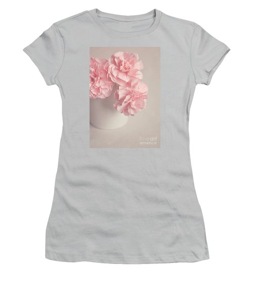Frilly Pink Carnations Women's T-Shirt (Athletic Fit)