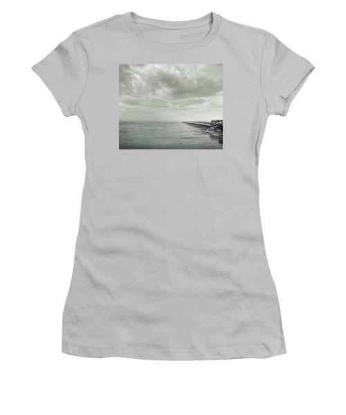Frozen Jetty Women's T-Shirt (Athletic Fit)