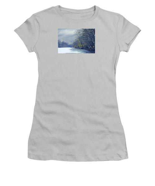 Frozen Pond Women's T-Shirt (Athletic Fit)
