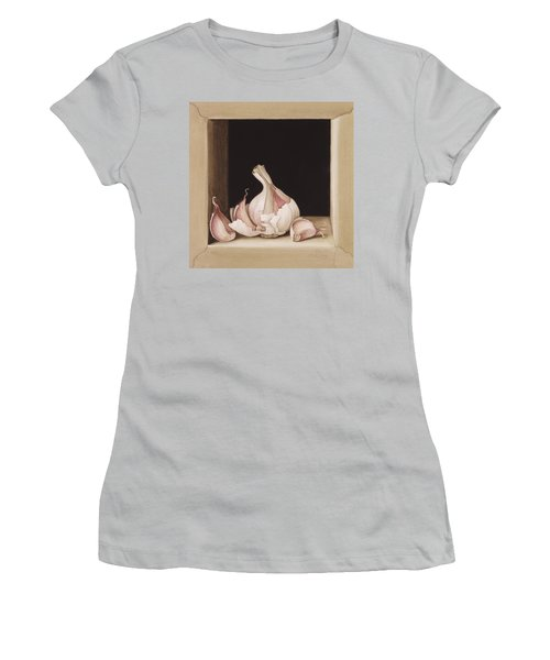 Garlic Women's T-Shirt (Junior Cut) by Jenny Barron