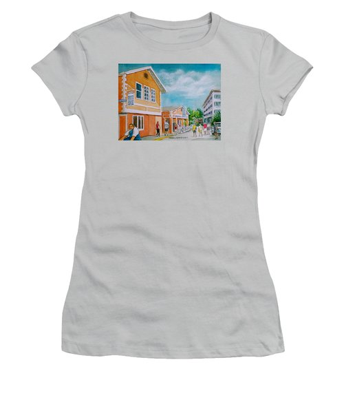 Georgetown Grand Cayman Women's T-Shirt (Junior Cut) by Frank Hunter