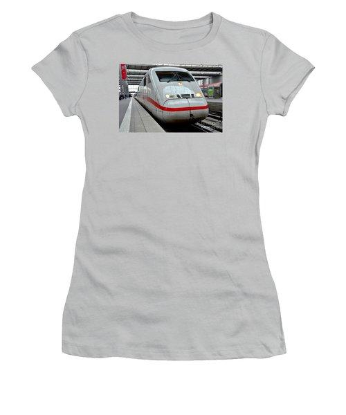 German Ice Intercity Bullet Train Munich Germany Women's T-Shirt (Athletic Fit)
