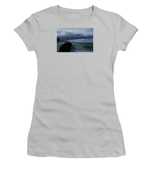 Women's T-Shirt (Junior Cut) featuring the photograph Get Splashed by Sean Sarsfield