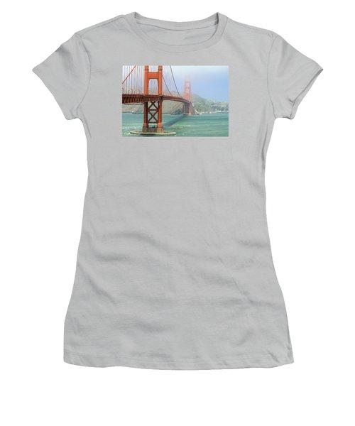 Women's T-Shirt (Junior Cut) featuring the photograph Golden Gate by Steven Bateson