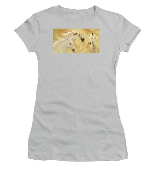 Golden Steeds Women's T-Shirt (Athletic Fit)