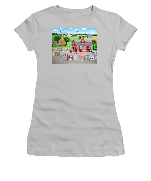 Great American Quilt Factory Women's T-Shirt (Athletic Fit)