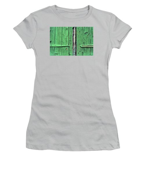 Green Door Women's T-Shirt (Junior Cut) by Steve Archbold