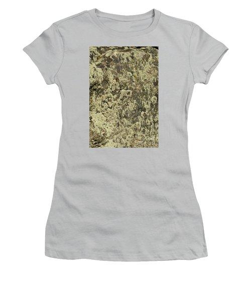 Women's T-Shirt (Junior Cut) featuring the photograph Green Moss by Les Palenik