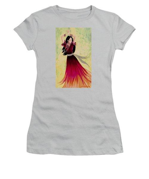 Gypsy Dancer Women's T-Shirt (Junior Cut) by Sophia Schmierer