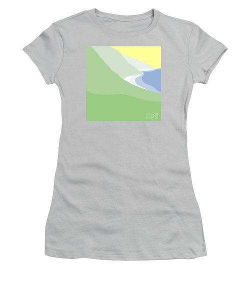 Hazy Coastline Women's T-Shirt (Athletic Fit)