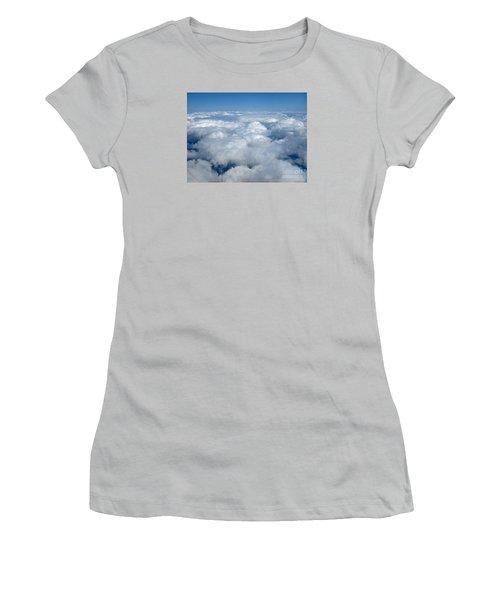 Head In The Clouds Art Prints Women's T-Shirt (Junior Cut) by Valerie Garner