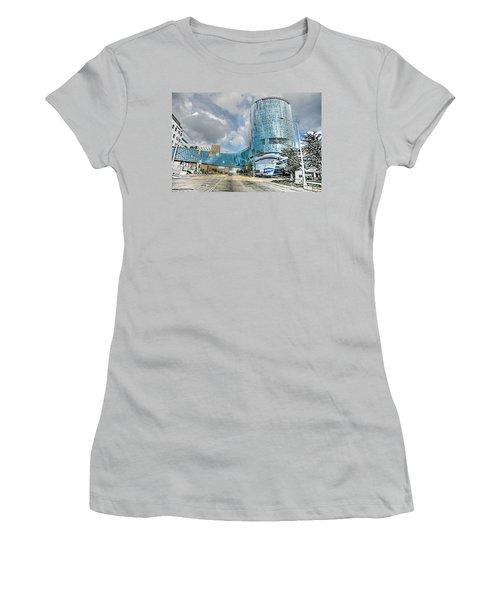 Women's T-Shirt (Junior Cut) featuring the photograph Helen Devos Hospital by Robert Pearson