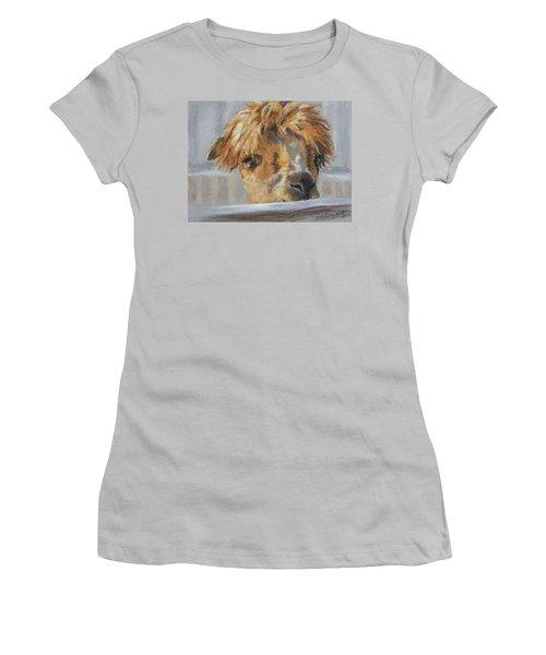 Women's T-Shirt (Junior Cut) featuring the drawing Hello by Lori Brackett