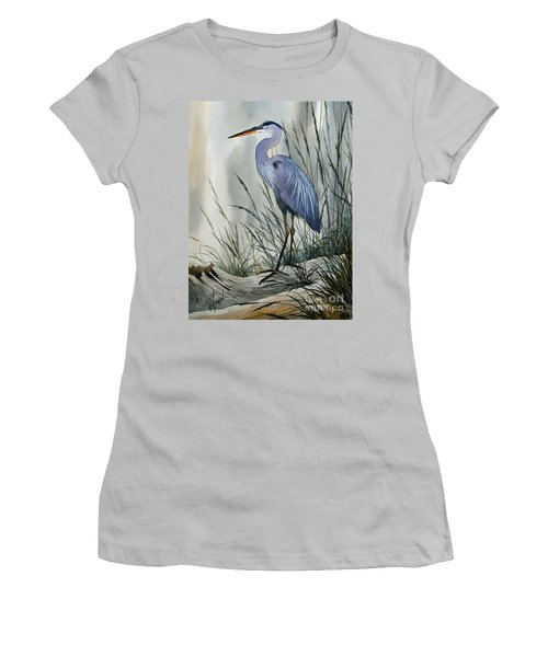 Herons Sheltered Retreat Women's T-Shirt (Junior Cut) by James Williamson