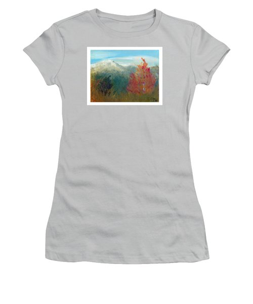 Women's T-Shirt (Junior Cut) featuring the painting High Country View by C Sitton