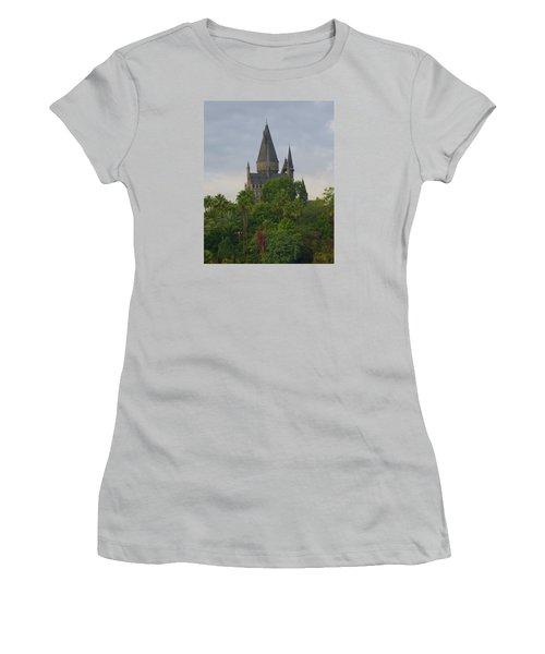 Hogwarts Castle 1 Women's T-Shirt (Junior Cut) by Kathy Long