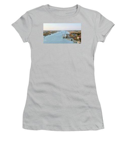 Holden Beach In Nc Women's T-Shirt (Junior Cut) by Cynthia Guinn