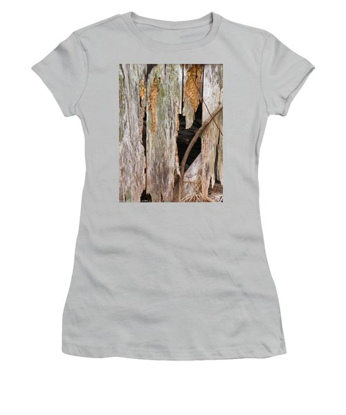 Women's T-Shirt (Junior Cut) featuring the photograph Holey Smokehouse by Nick Kirby