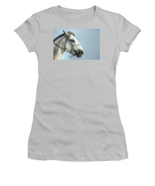Horse Head-shot Women's T-Shirt (Junior Cut) by Eti Reid