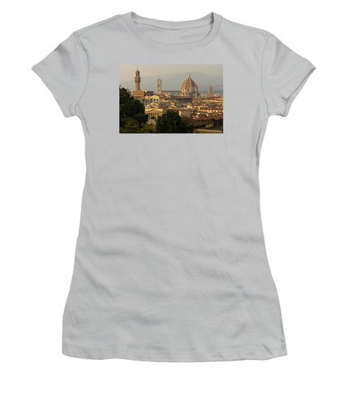 Hot Summer Afternoon In Florence Italy Women's T-Shirt (Junior Cut) by Georgia Mizuleva