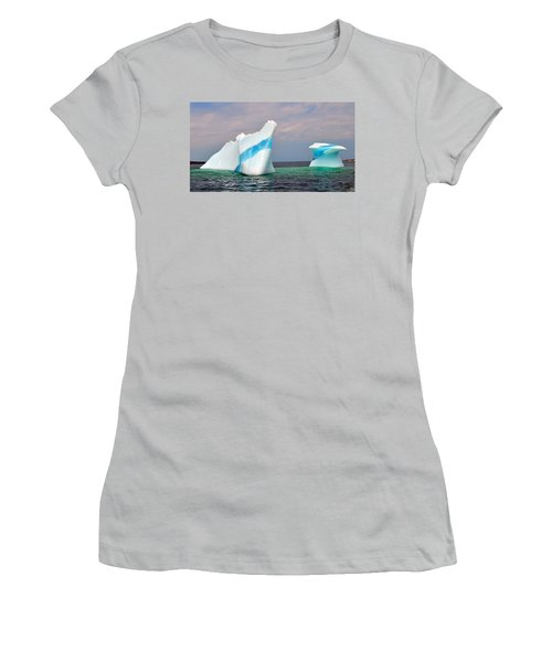 Iceberg Off The Coast Of Newfoundland Women's T-Shirt (Athletic Fit)