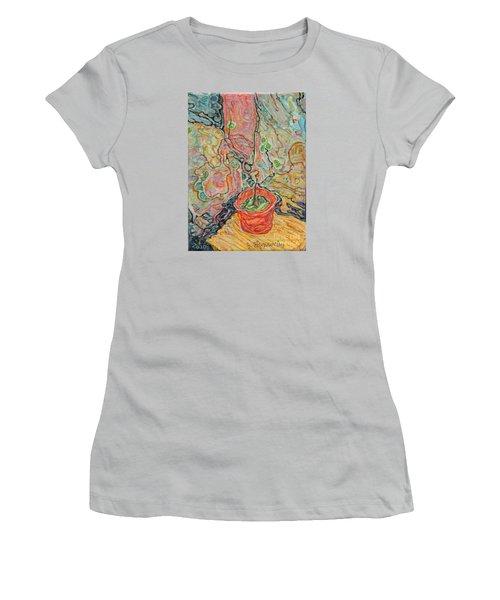 Ikebana Women's T-Shirt (Junior Cut) by Anna Yurasovsky
