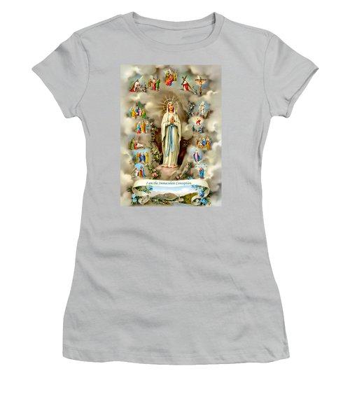Immaculate Conception Women's T-Shirt (Junior Cut) by Munir Alawi