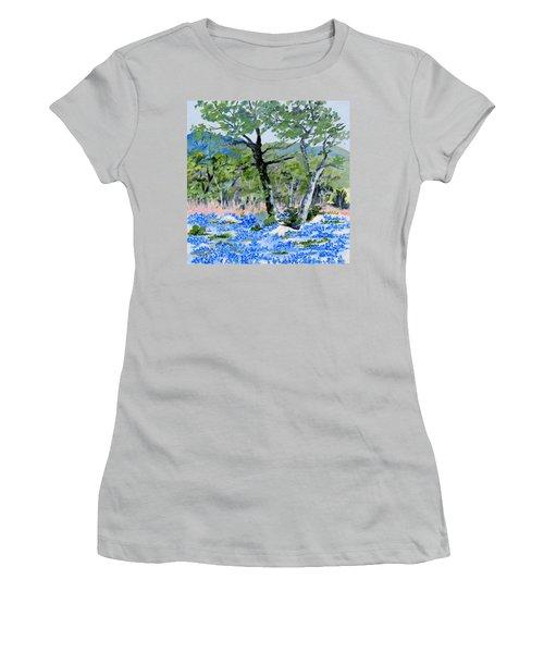 In April-texas Bluebonnets Women's T-Shirt (Athletic Fit)