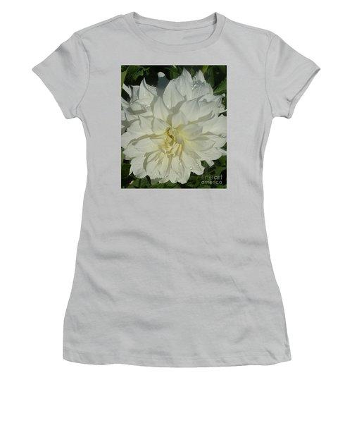 Innocent White Dahlia  Women's T-Shirt (Junior Cut) by Susan Garren