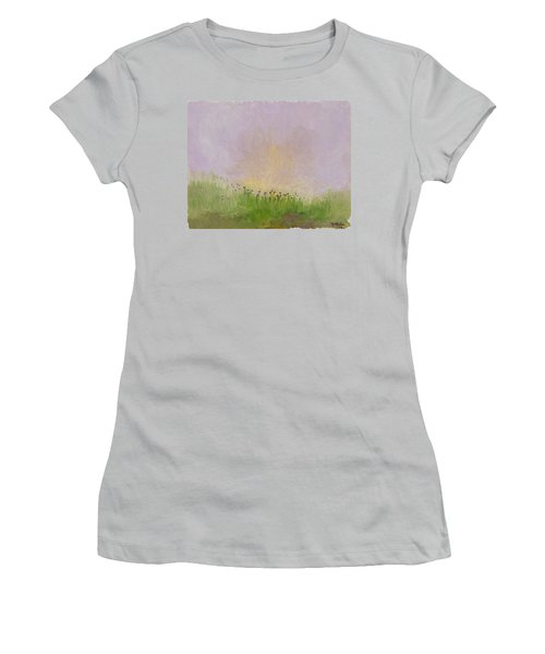 Iris Field Women's T-Shirt (Athletic Fit)