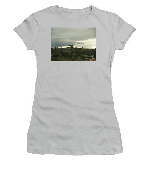 Italian Hillside Women's T-Shirt (Junior Cut) by Robin Maria Pedrero