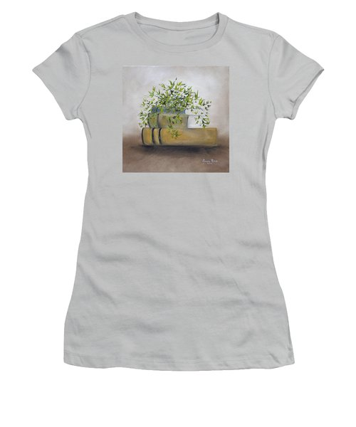 Women's T-Shirt (Junior Cut) featuring the painting Ivy League by Judith Rhue