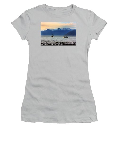 Women's T-Shirt (Junior Cut) featuring the photograph Jackson Bay South Westland New Zealand by Amanda Stadther