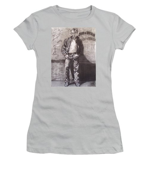 James Dean Women's T-Shirt (Junior Cut) by Sean Connolly