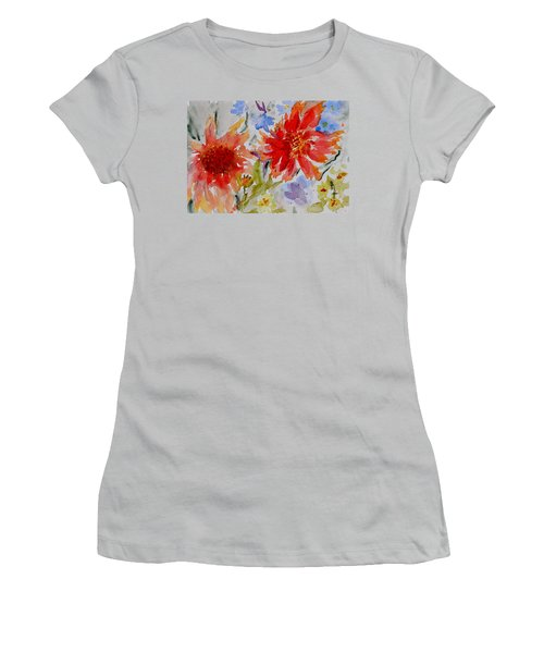 Jann's Gaillardia Women's T-Shirt (Junior Cut) by Beverley Harper Tinsley