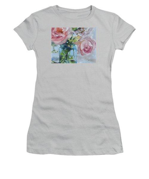 Jar Of Pink Women's T-Shirt (Junior Cut) by Donna Tuten